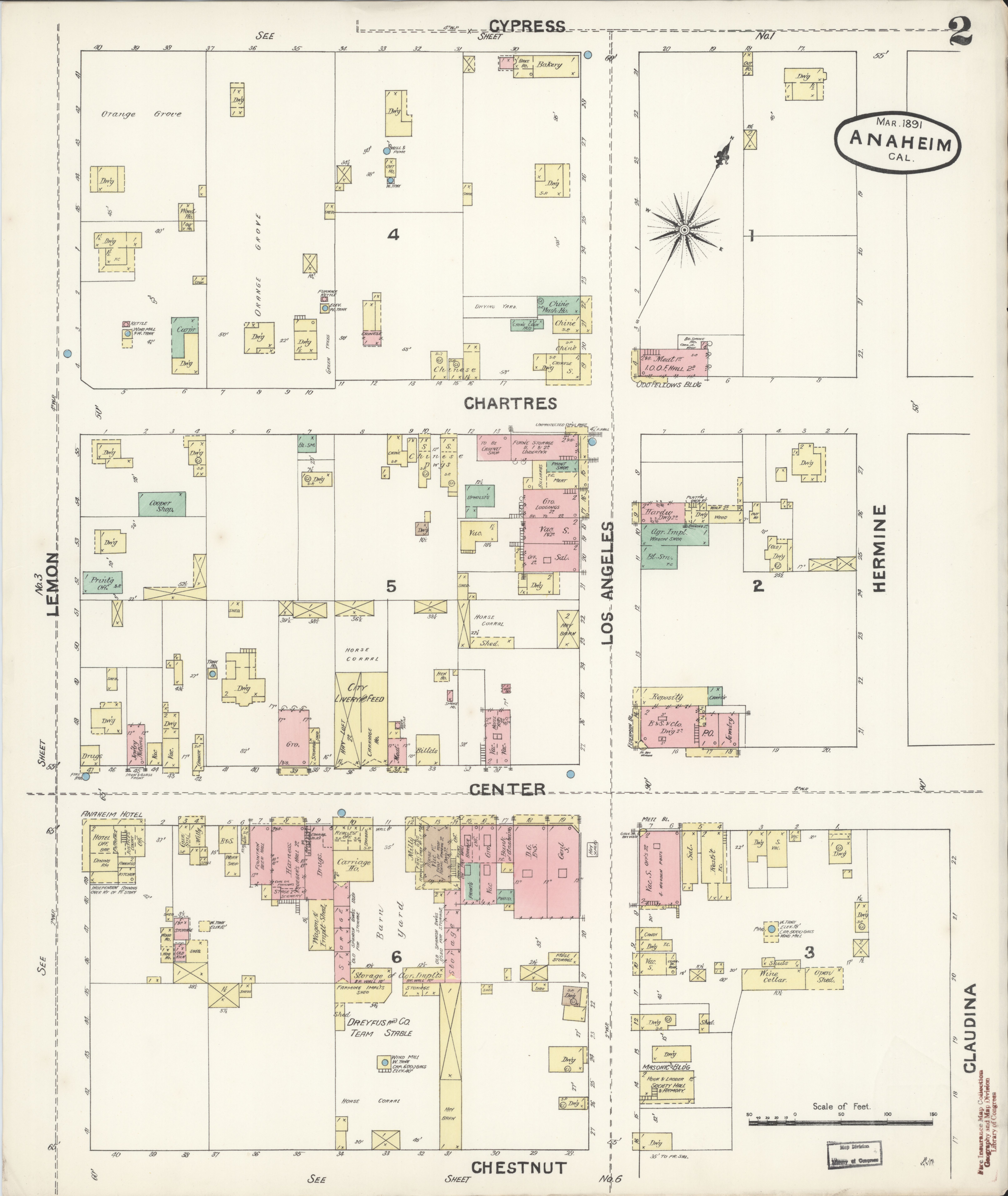 File:Sanborn Fire Insurance Map from Anaheim, Orange County ... on map of southern california, map of pasadena california, map of san gabriel valley california, map of buffalo california, map of cazadero california, map of sugarloaf california, map of torrance california, map of lathrop california, map of crestline california, map of frazier park california, map of city of riverside california, map of leucadia california, map of california adventures california, map of holllywood california, map of china lake california, map of desert hot springs california, map of belvedere california, map of california cities, map of long beach california, map of lomita california,