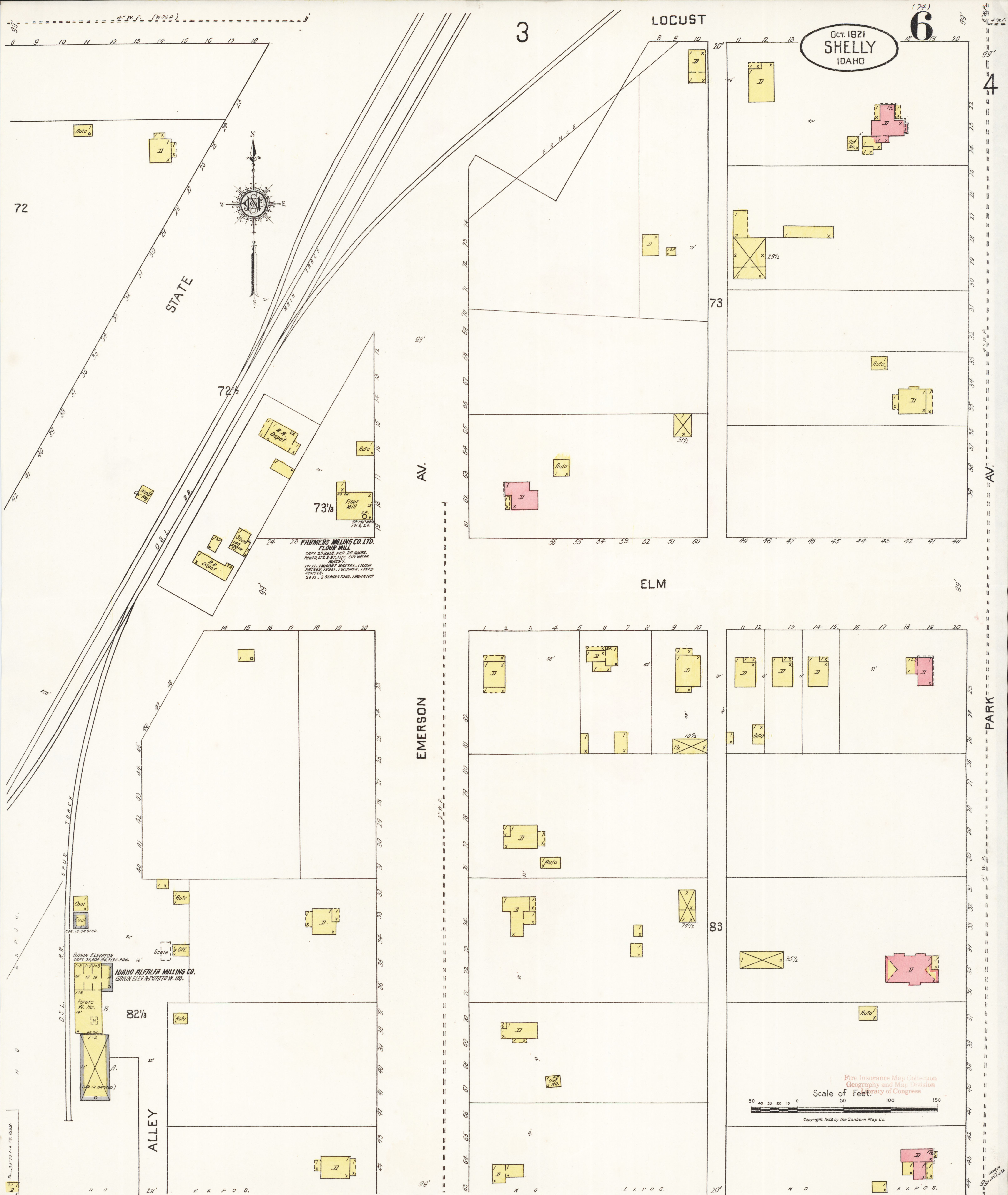File Sanborn Fire Insurance Map From Shelley Bingham County Idaho