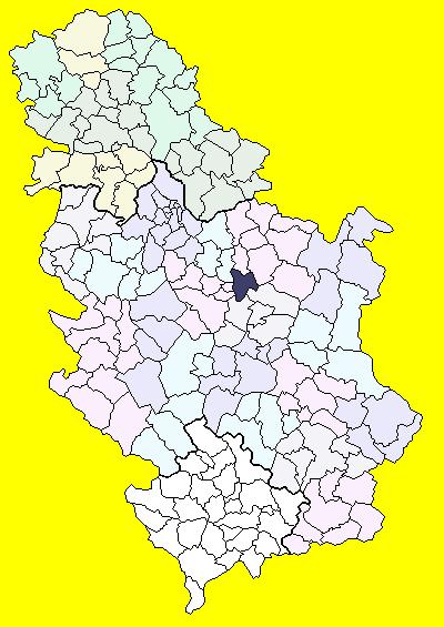 svilajnac mapa srbije Svilajnac (općina) – Wikipedija svilajnac mapa srbije