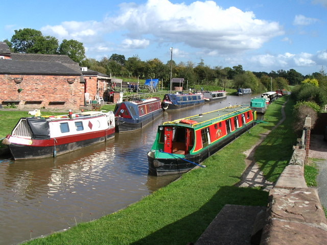 Shropshire Union Canal near Tiverton, Cheshire - geograph.org.uk - 1148996