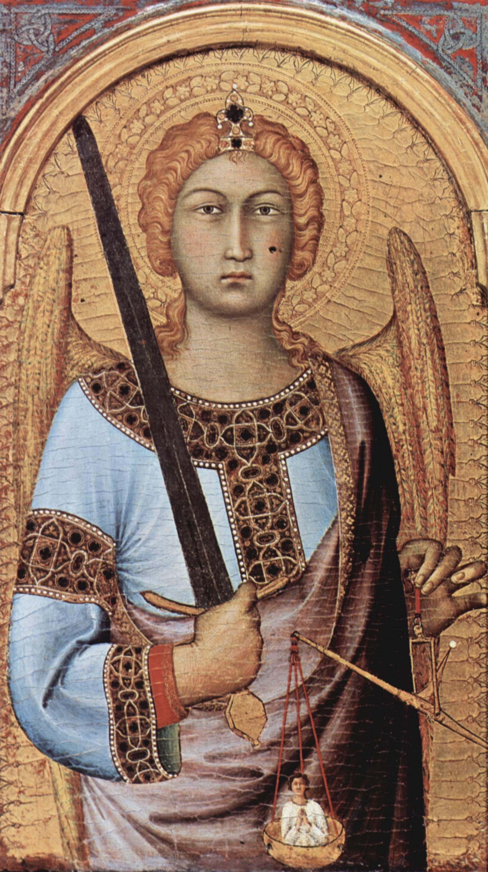 SIMONE MARTINI Polyptych (detail) 1320-25