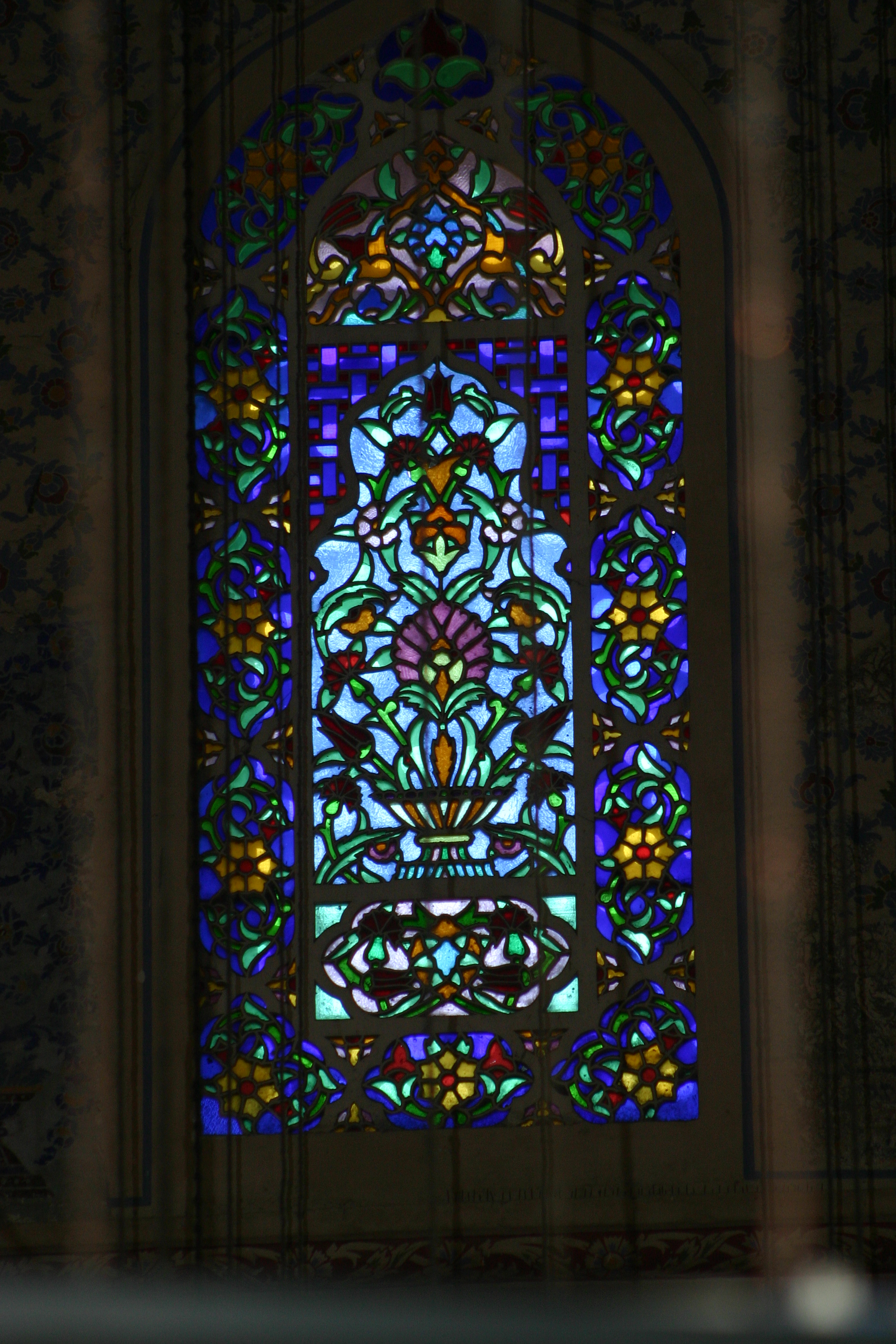 File Stained Gl Window In The Blue Mosque Jpg