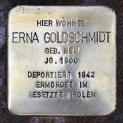 Stolperstein Domitianstrasse 4 Goldschmidt Erna