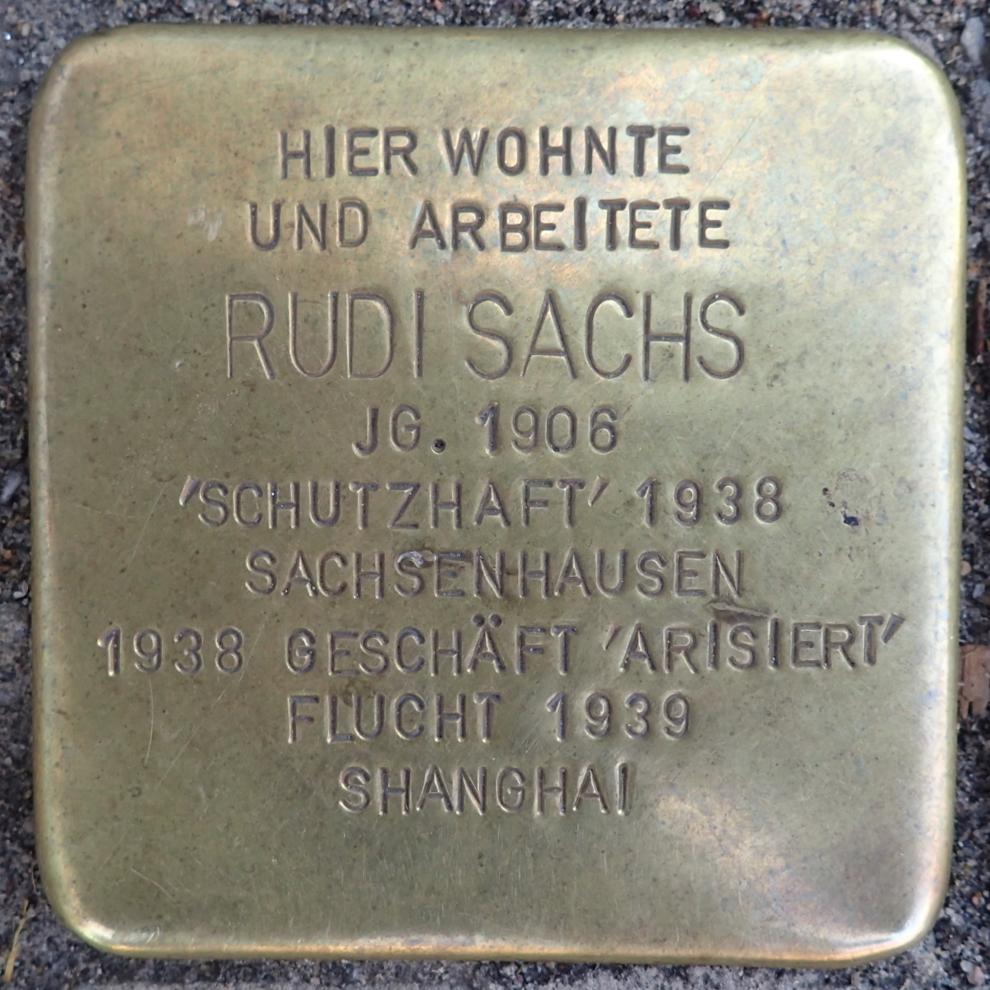Stolperstein Bad Belzig Sandberger Straße 10 Rudi Sachs.jpg