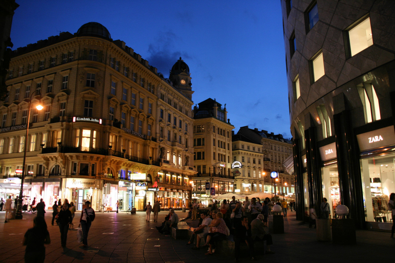 Vienna Austria  City pictures : Description Sttephanplatz, Graben, Vienna, Austria