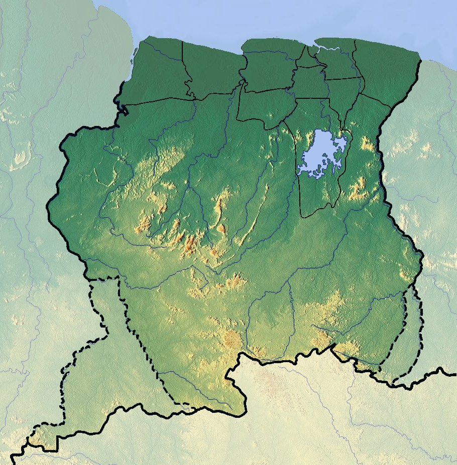 FileSuriname Location Map Topographicpng Wikimedia Commons - Where is suriname on the map
