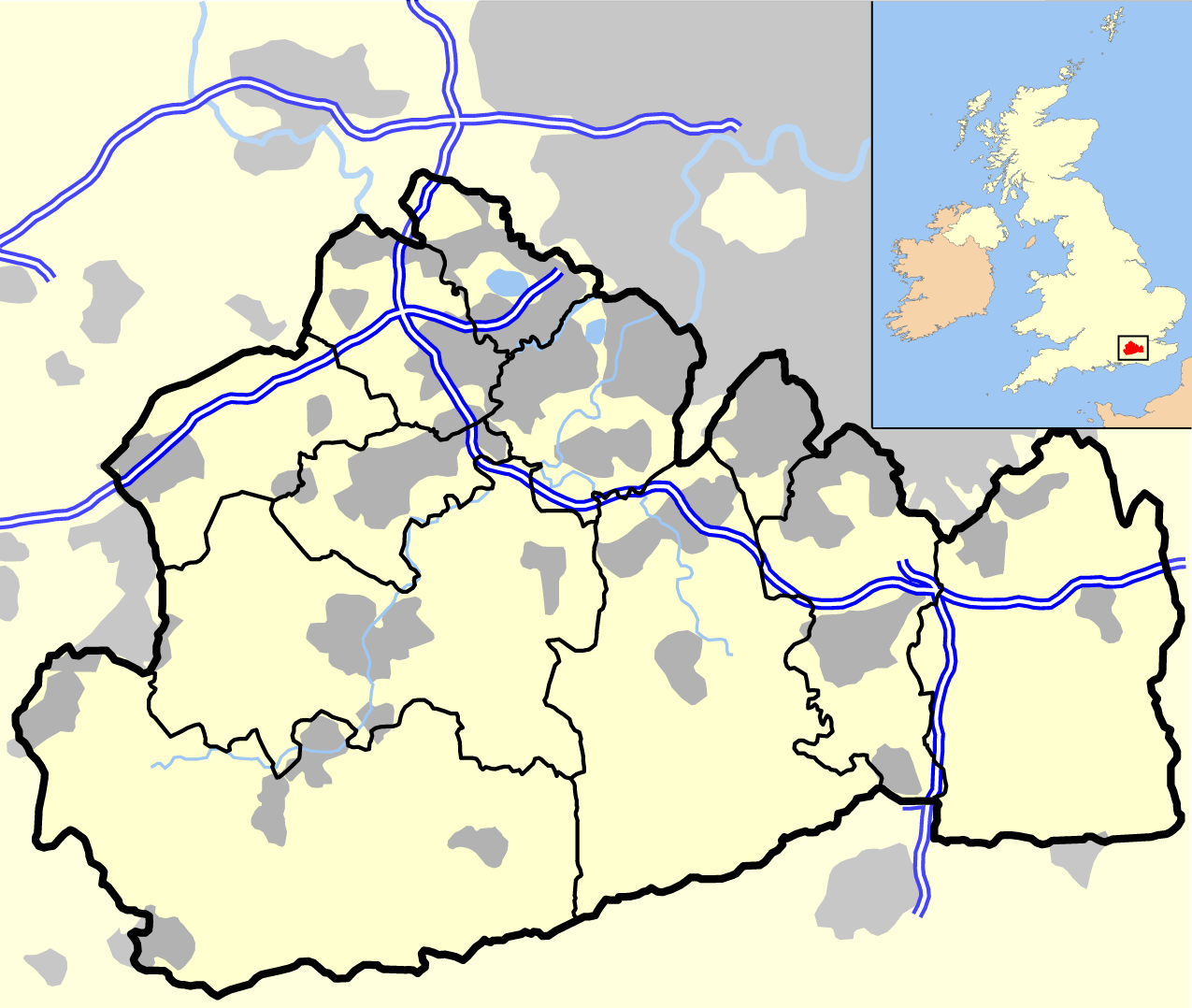 file surrey outline map with uk png wikimedia commons