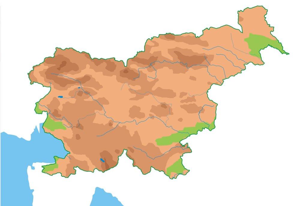 szlovénia domborzati térkép Szlovénia földrajza – Wikipédia szlovénia domborzati térkép