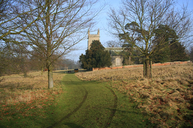 Track to Ickworth church - geograph.org.uk - 1143958