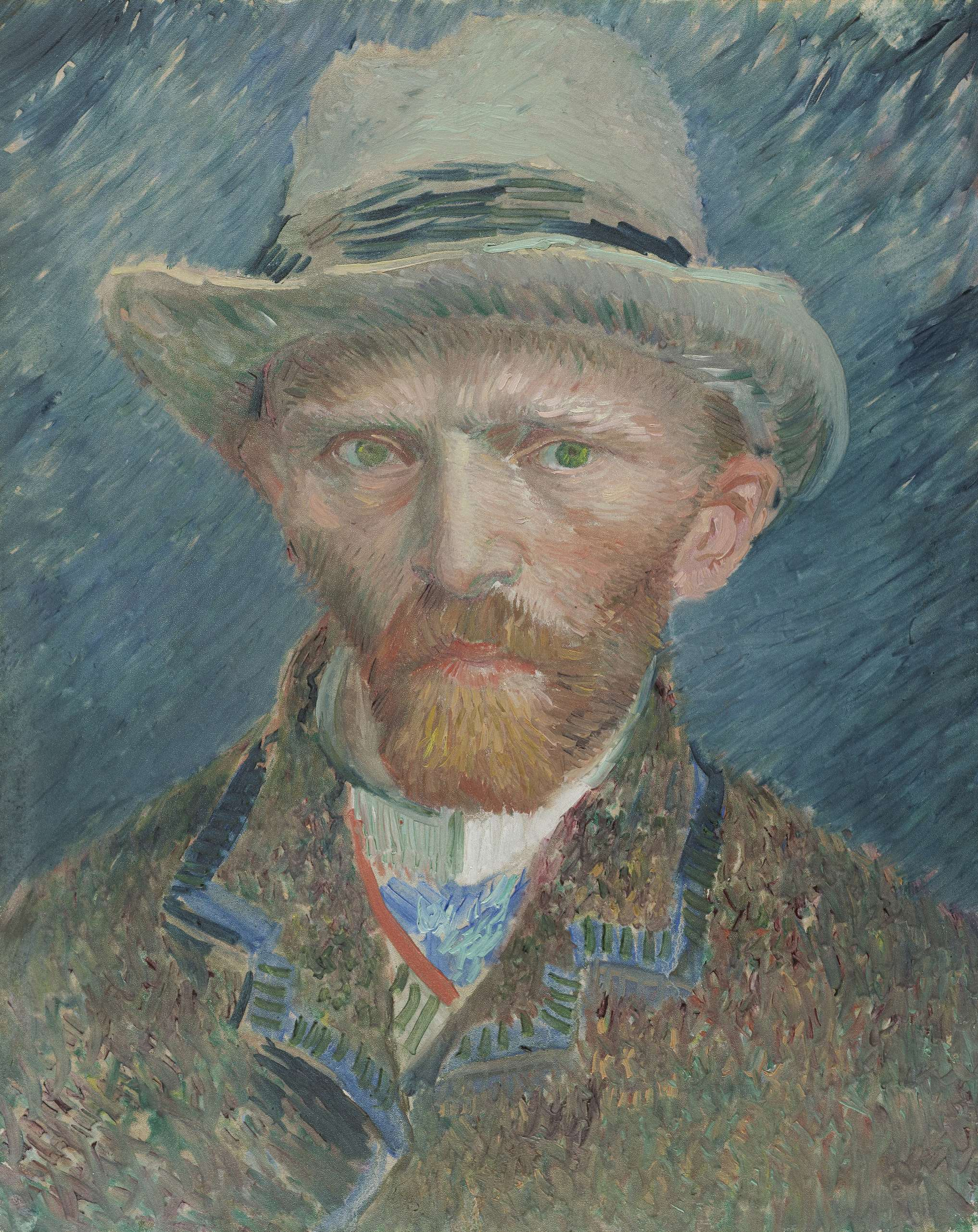Van Gogh Self-Portrait with Grey Felt Hat 1886-87