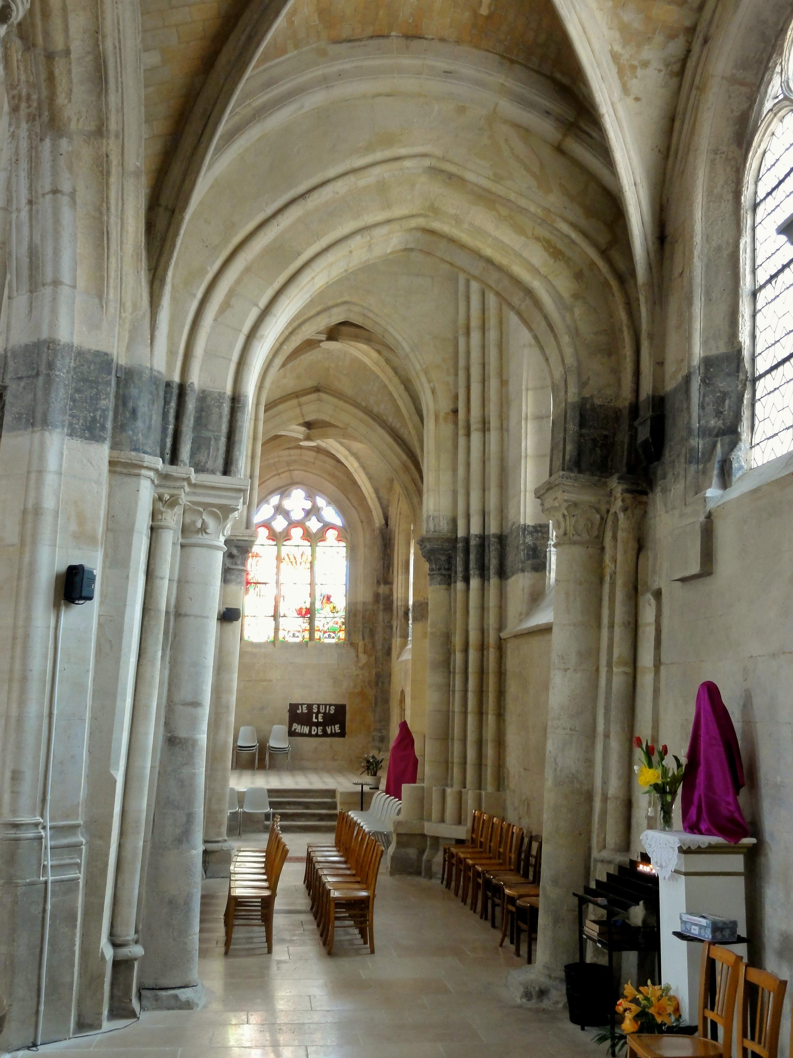 Filevilliers Le Bel 95 église Saint Didier Bas Côté Sud Vue