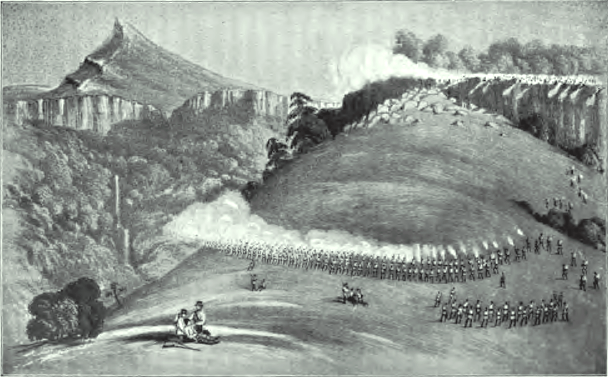 File:War of the Axe - Sketch of shootout between British Imperial Troops and Xhosa Soldiers - Amatola Mnts June 1851.png