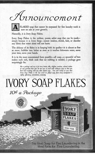 File Woman S Home Companion 1919 Ivory Soap Flakes Png