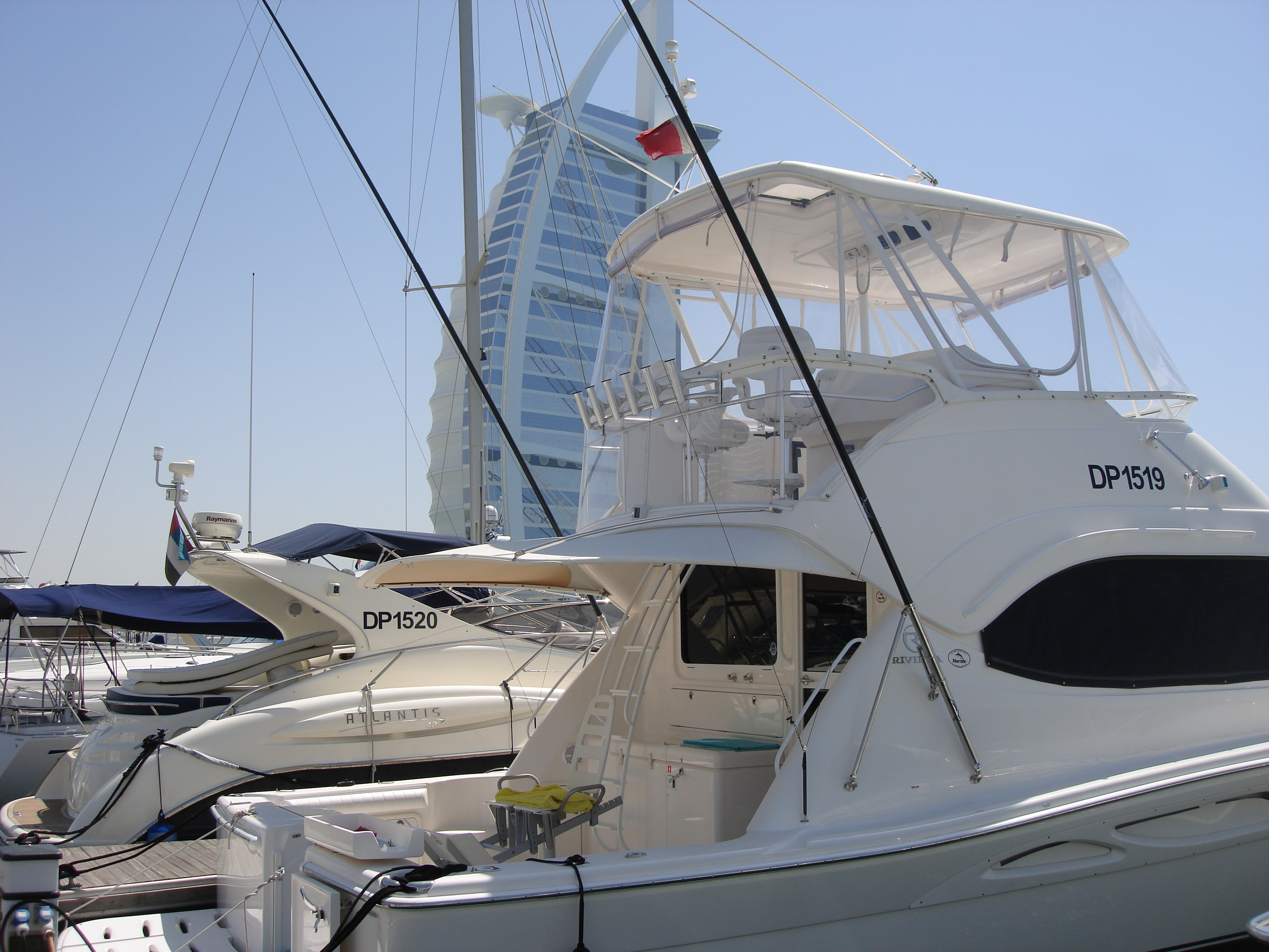 Yachts in the Dubai Marina