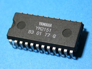 Yamaha YM2151 eight-channel, four-operator sound chip