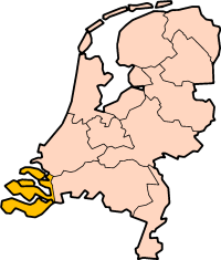 Map: Province of Zeelandin the Netherlands