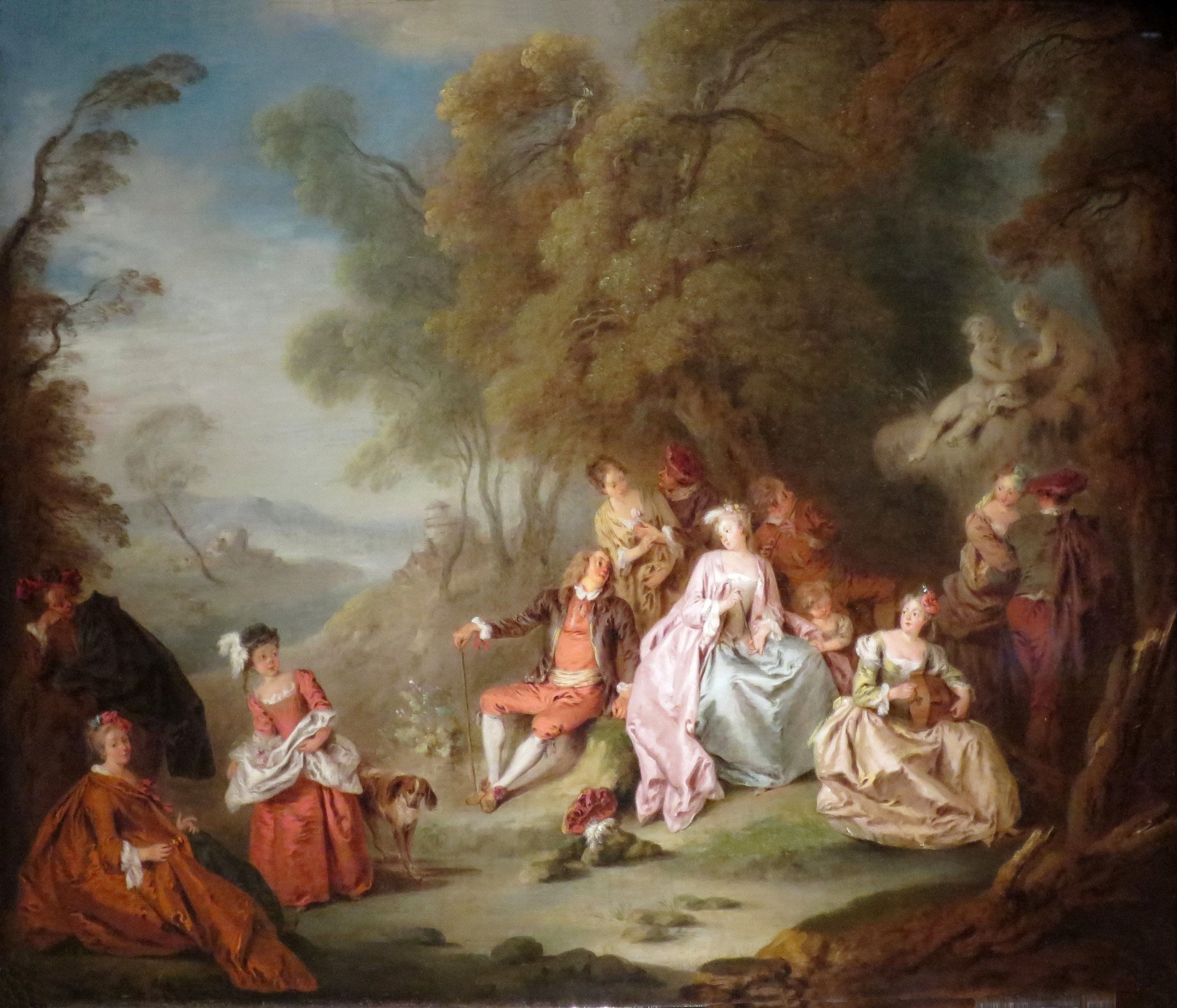 File Fête Champetre by Jean Baptiste Pater c 1730 oil