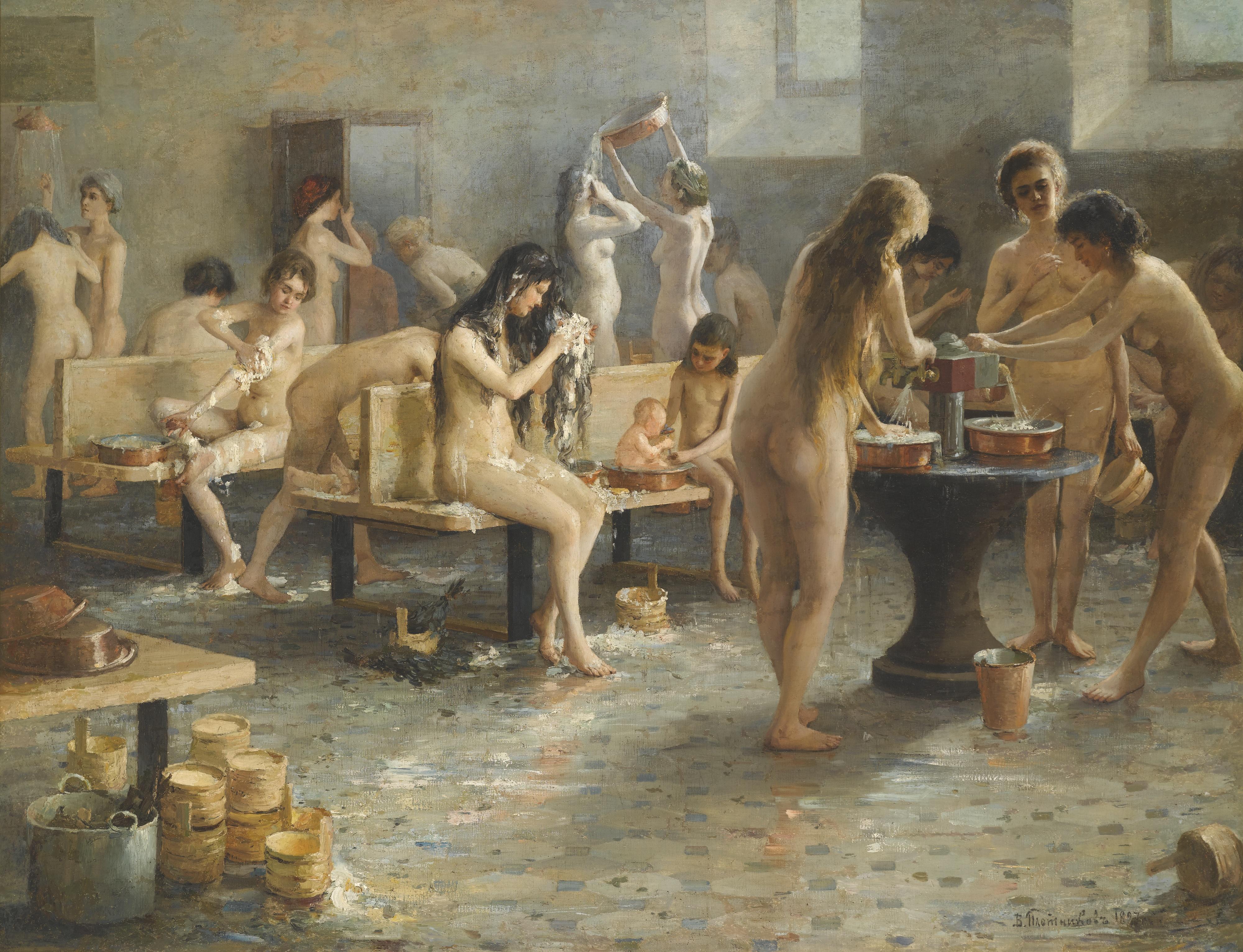Русская женская баня