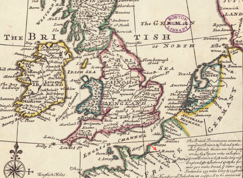 File:1732 Rouen detail of General Map of Great Britain and Ireland ...