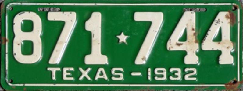 File:1932 Texas license plate 871*744.jpg
