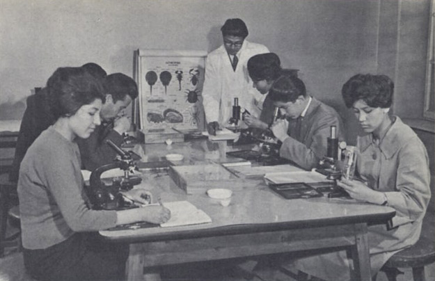 1950s_Afghanistan_-_Biology_class,_Kabul