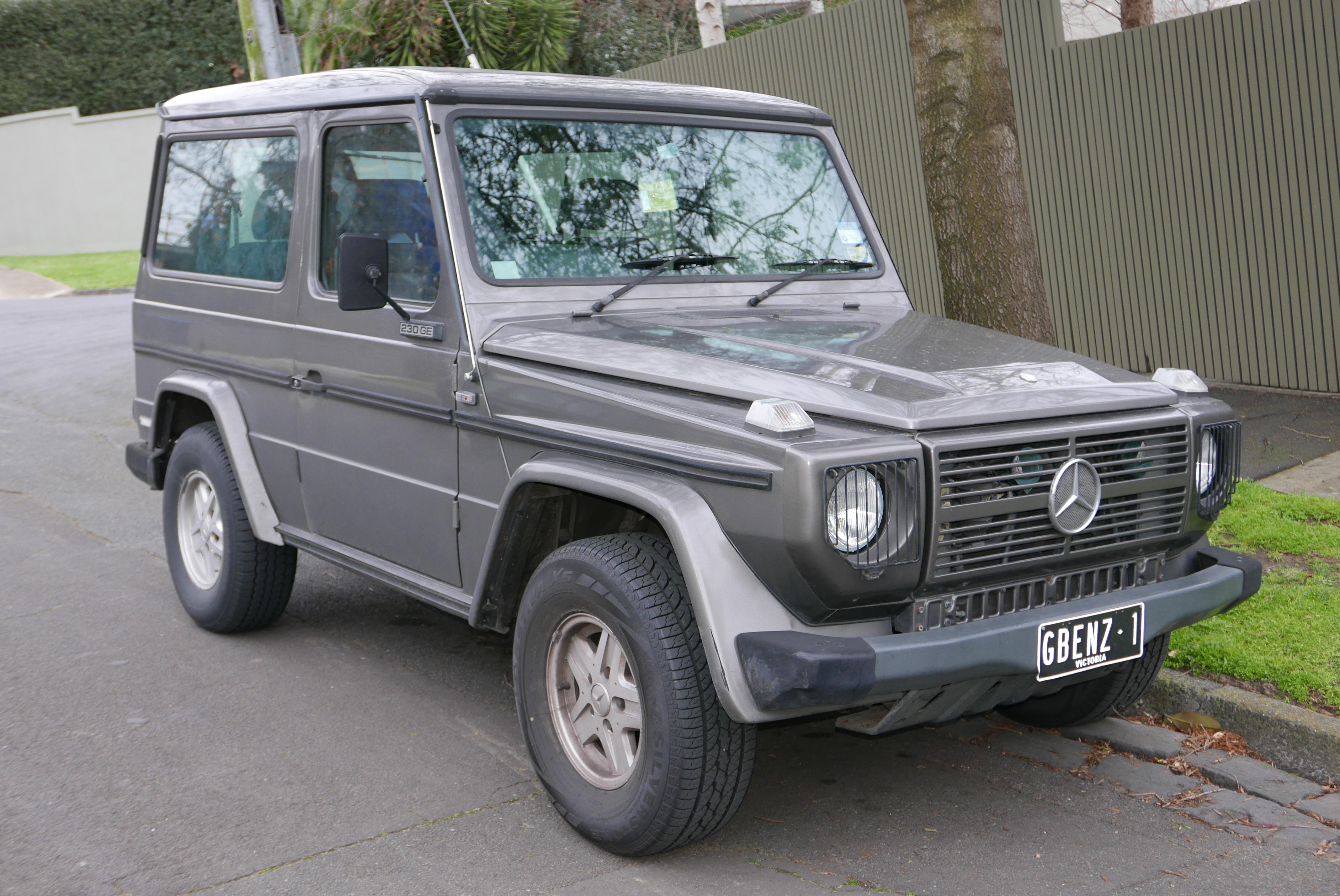 Mercedes Benz G History >> File:1987 Mercedes-Benz 230 GE (G 460) 3-door wagon (2015 ...