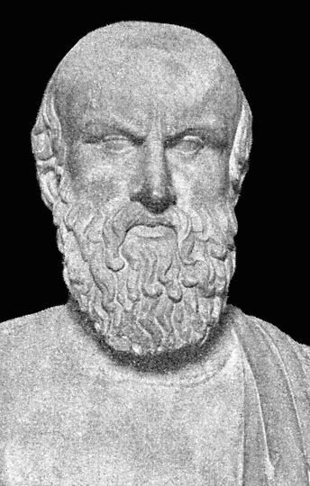 Bust of Aeschylus<br /> from the [[Capitoline Museums]], [[Rome]]