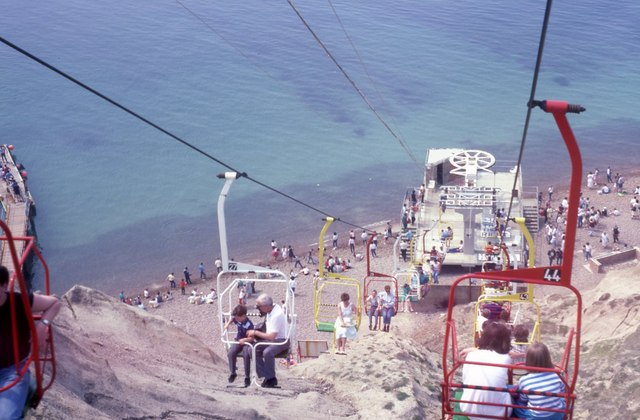 Alum Bay Chair Lift (1) - geograph.org.uk - 1012843