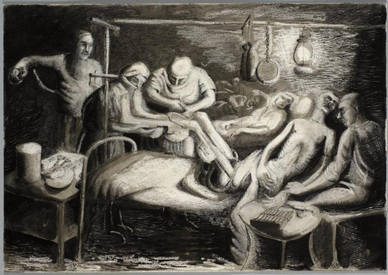 File:An Emergency Operation in a Hospital Ward, Athens, 1941 Art.IWMARTLD3837.jpg