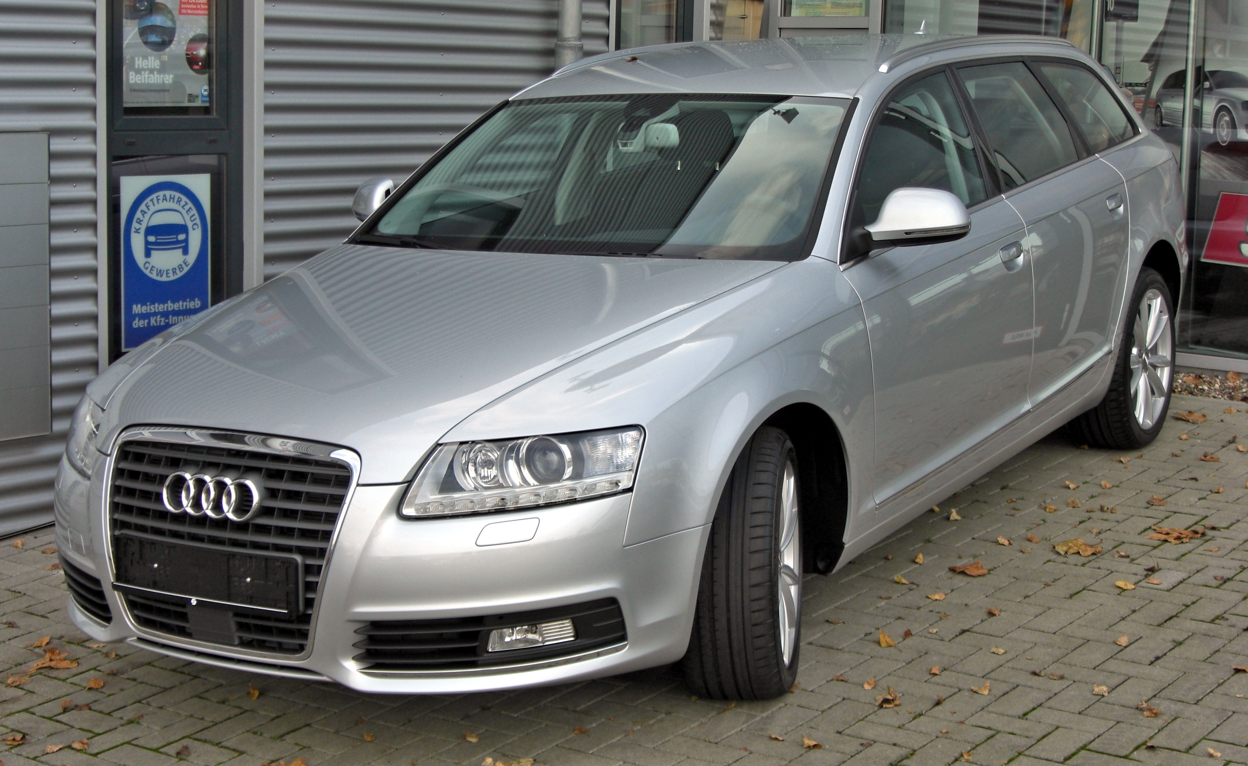 File Audi A6 C6 Avant Facelift Front Jpg Wikimedia Commons