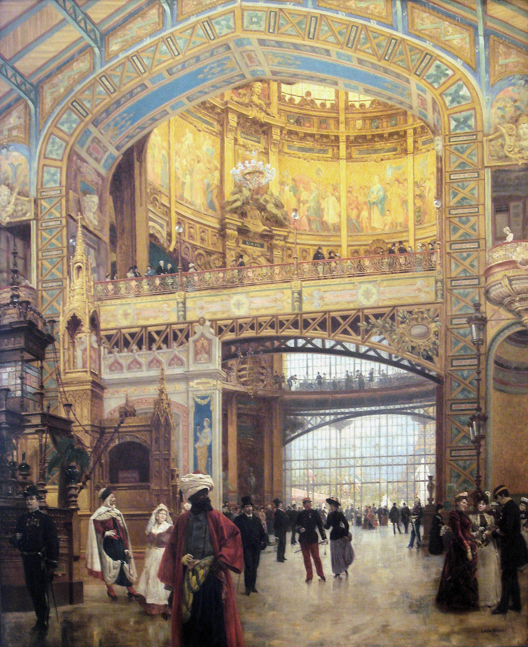 file beroud louis 1889 le d me central de la galerie des machines lors de l 39 exposition de 1889. Black Bedroom Furniture Sets. Home Design Ideas