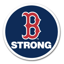 Patch worn by the Boston Red Sox in memory of Boston Marathon bombing victims