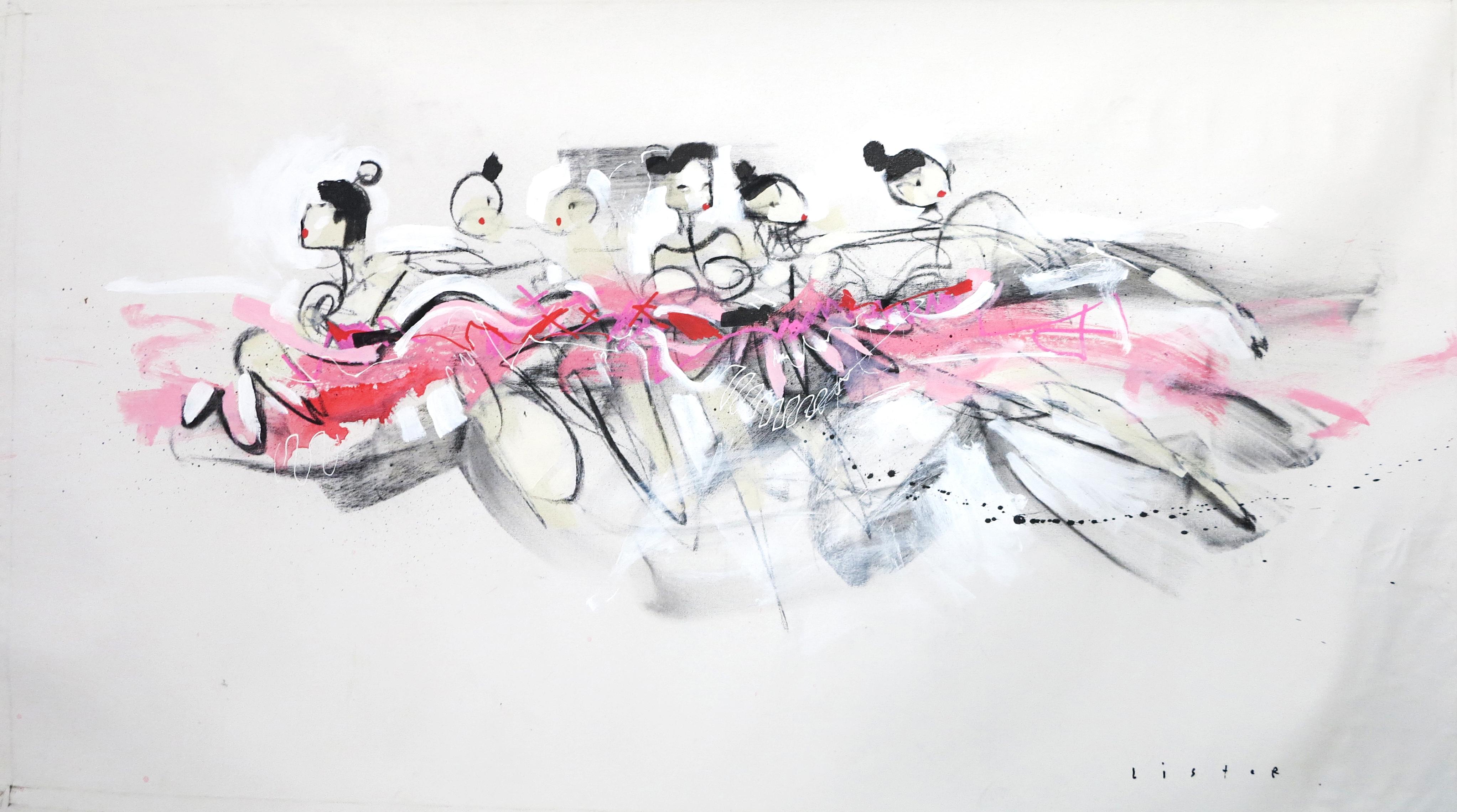 Painting Watercolor Art Ballerina
