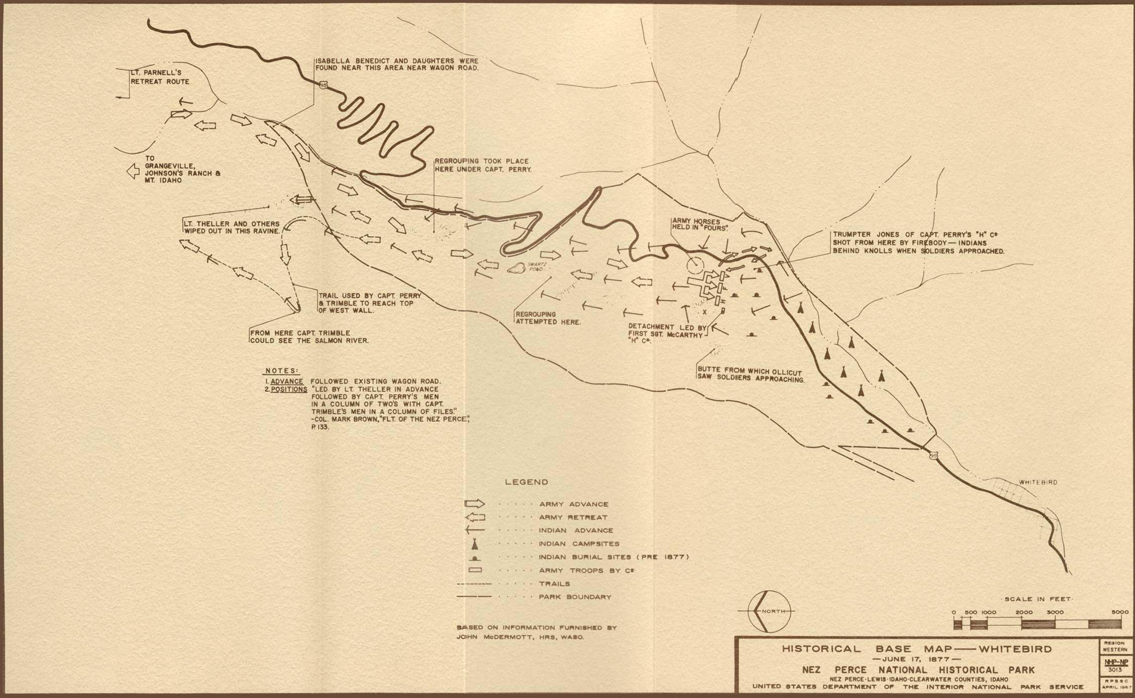 File Battle Of White Bird Canyon 1877 Map Jpg Wikimedia Commons