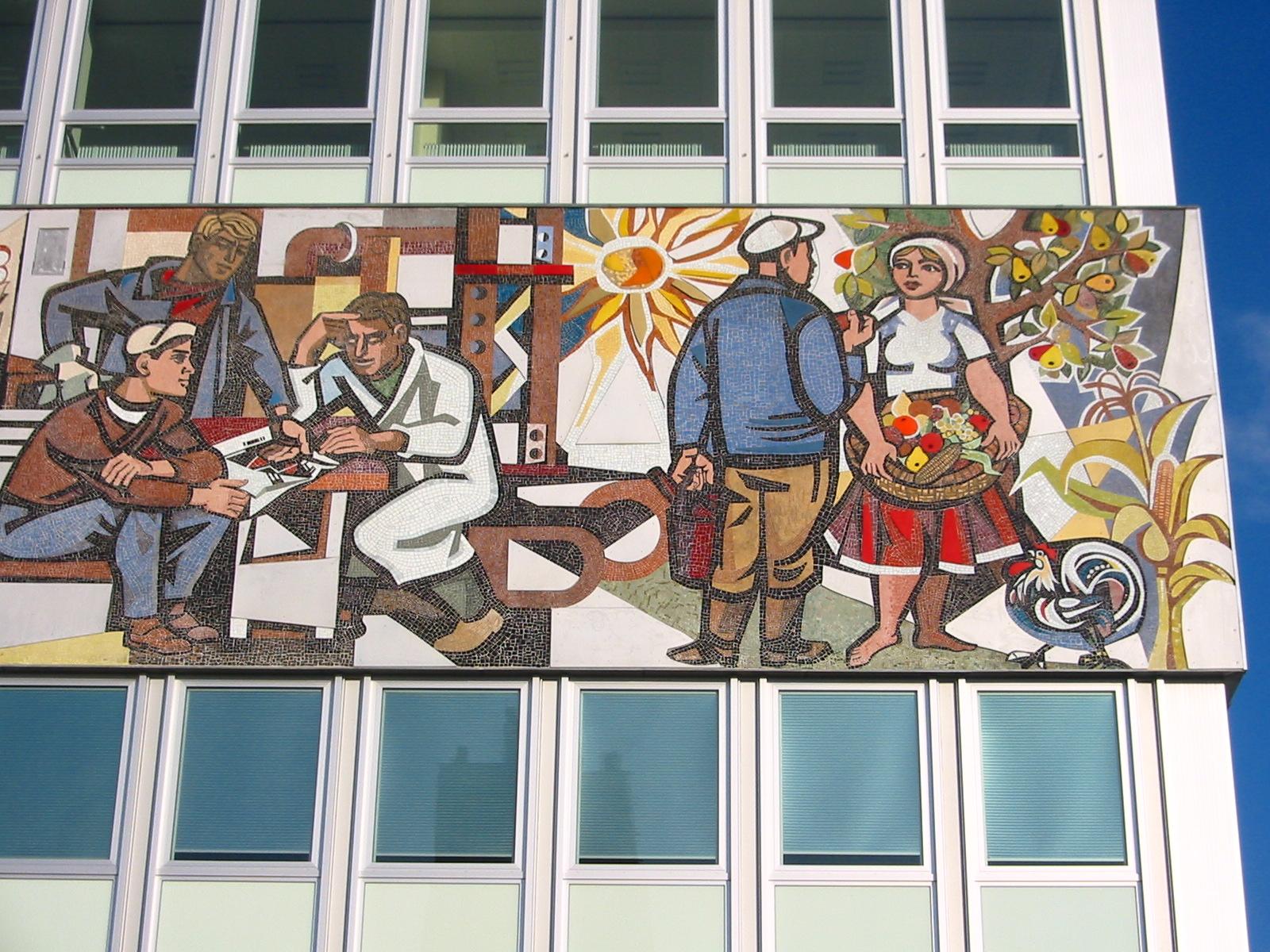 Mosaik Berlin file berlin haus des lehrers mosaik c jpg wikimedia
