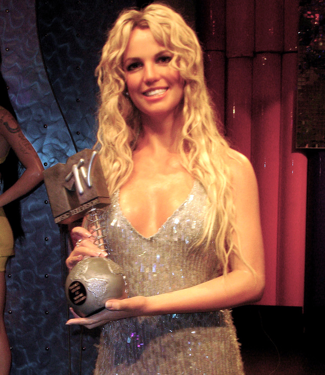 A click of Britney Spears in Madame Tussauds Las Vegas