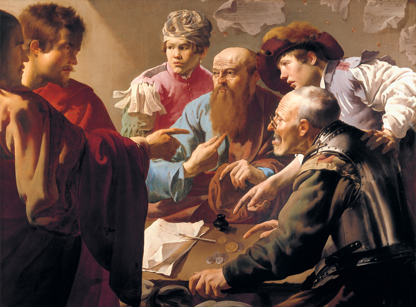 The Calling of St. Matthew by Hendrick ter Bruggen