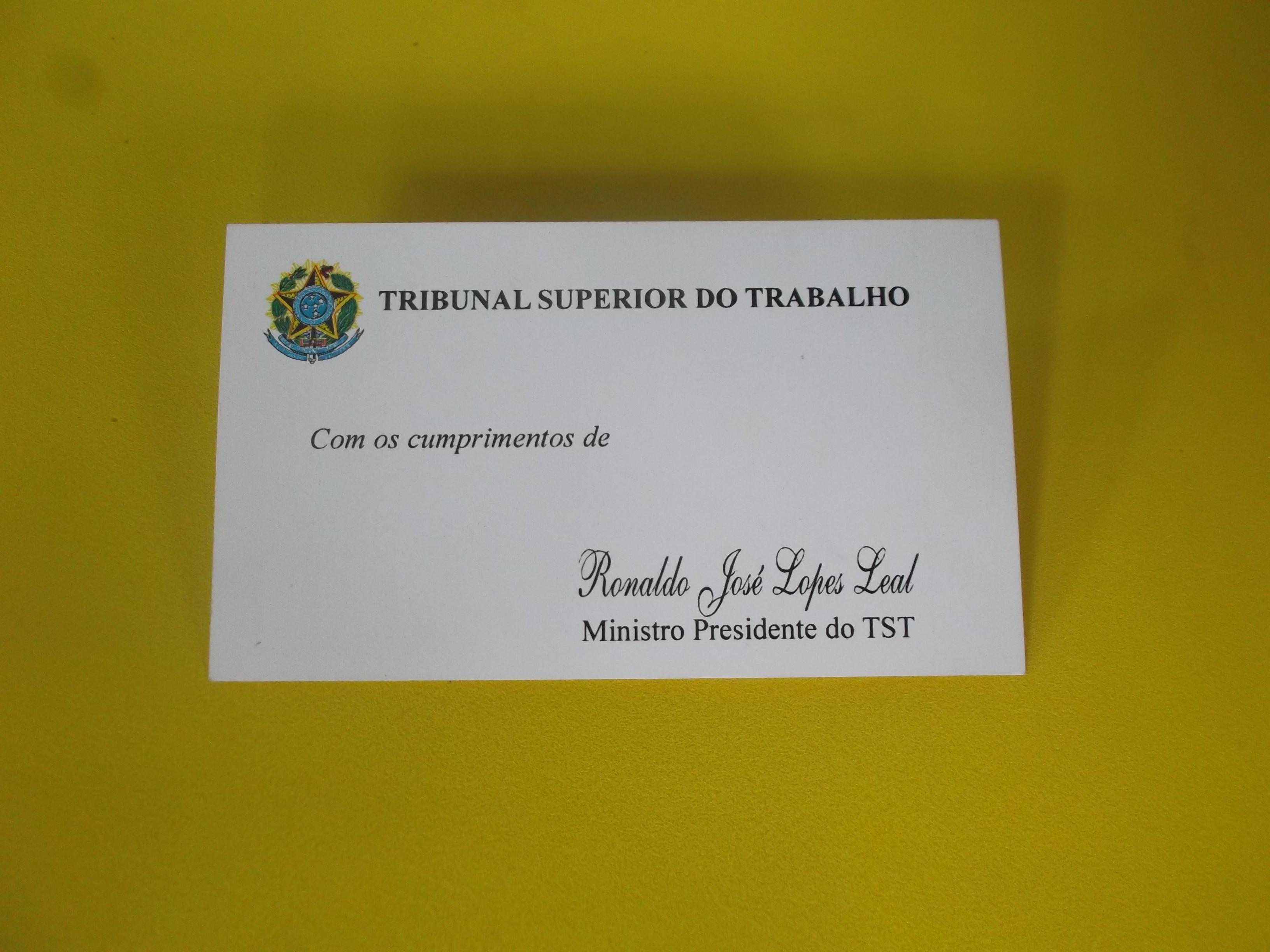 Amado File:Cartão de visitas do presidente do Tribunal Superior do  OW58