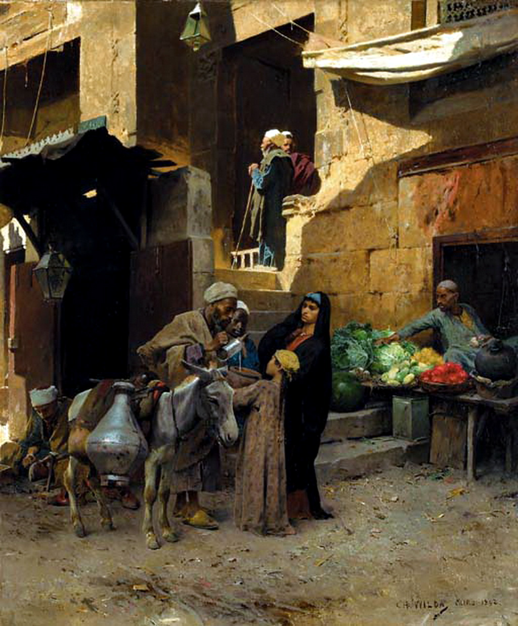 Charles Wilda - Inside the Souk, Cairo 1892