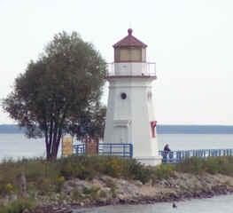 Cheboygan Crib Light lighthouse in Michigan, United States