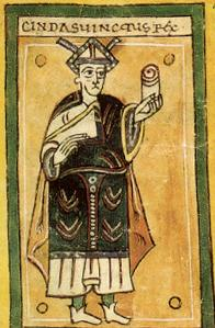King Chindasuinth from the Códex Albedense.