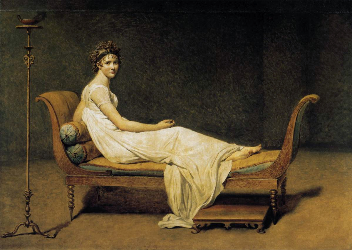 Image result for madame récamier de jacques louis david