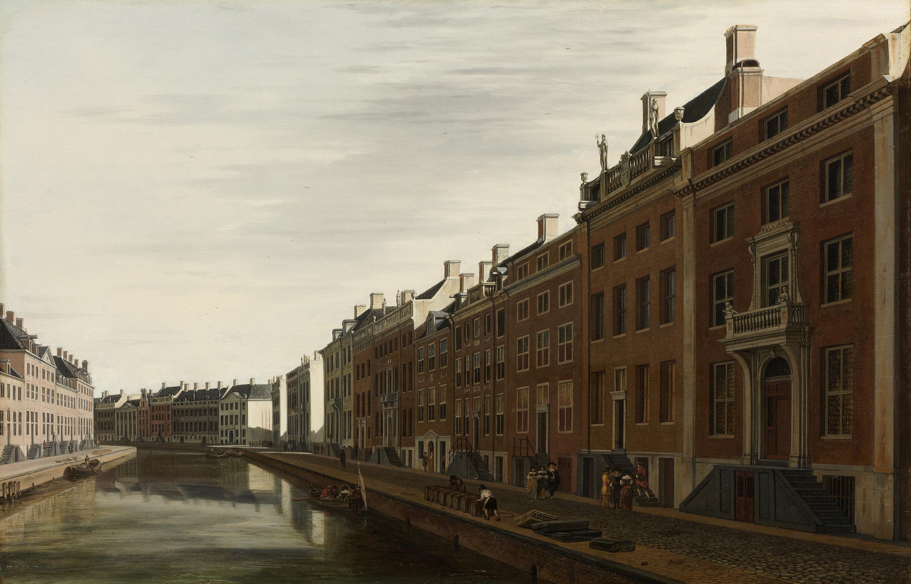 File de gouden bocht in de herengracht in amsterdam vanuit for Herengracht amsterdam