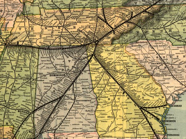 East Tennessee Virginia And Georgia Railway Wikipedia - East tennessee map