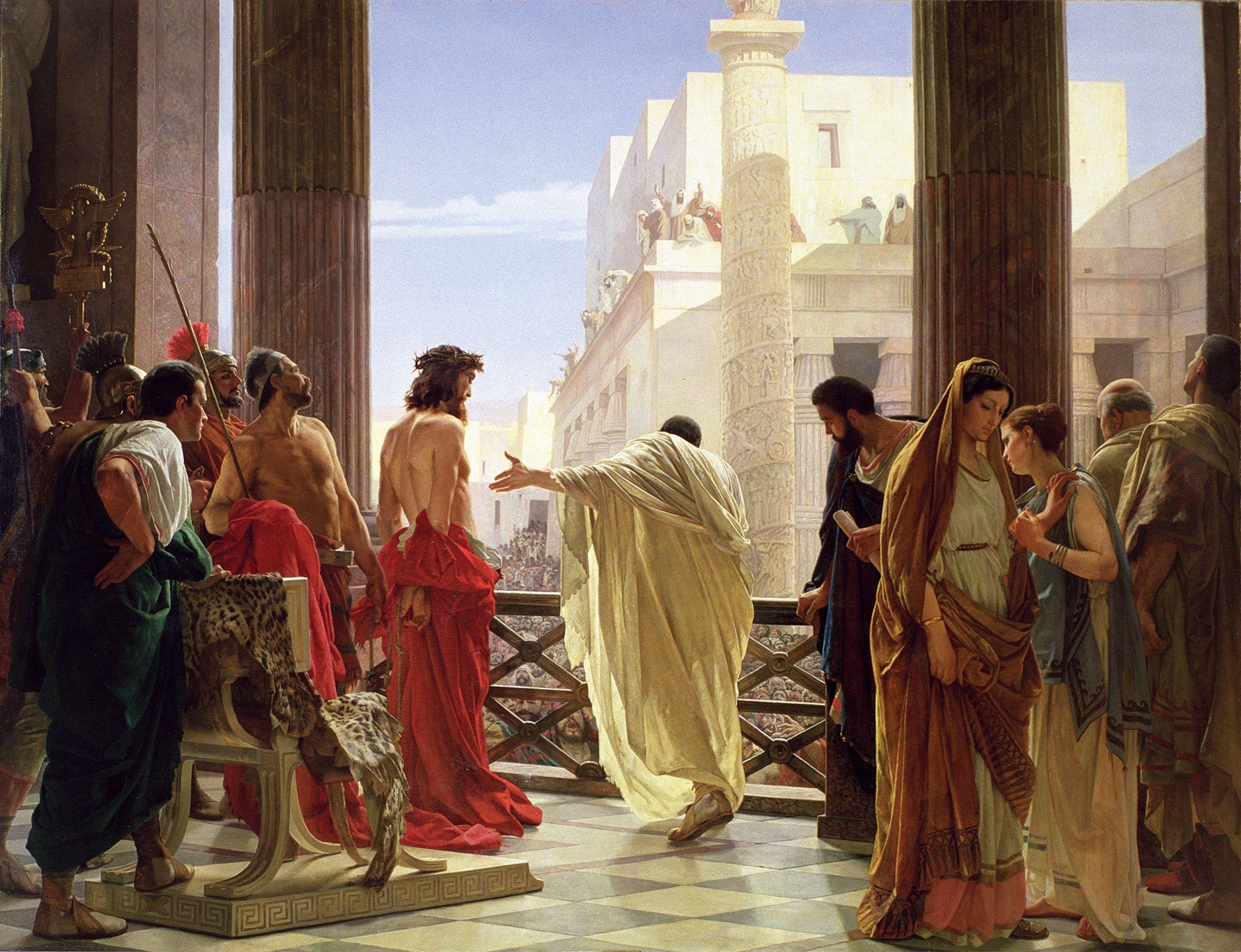 Resultado de imagen de pilato saca fuera a jesus