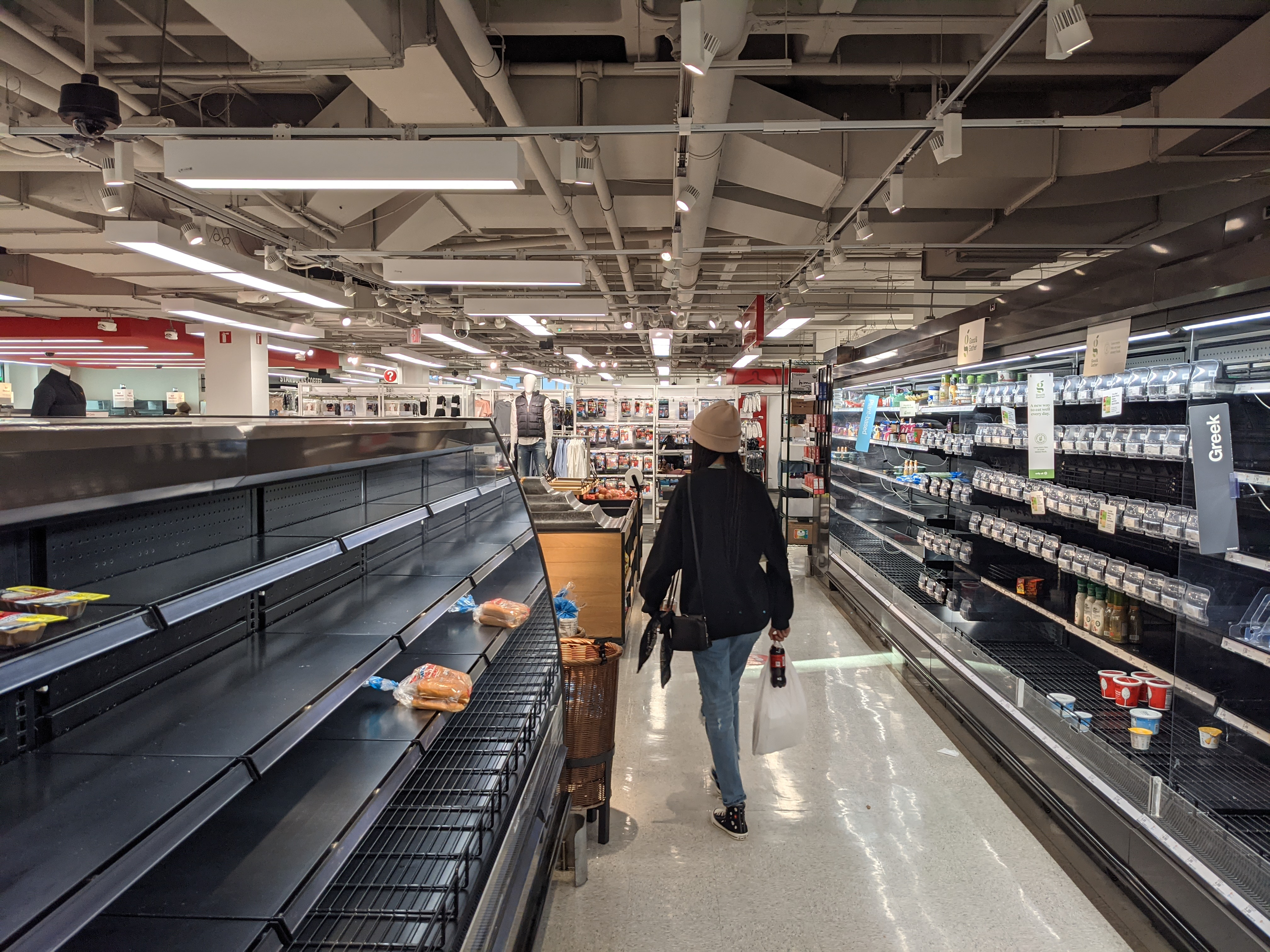 Empty grocery store shelves in Austin during the 2021 Texas energy crisis.jpg