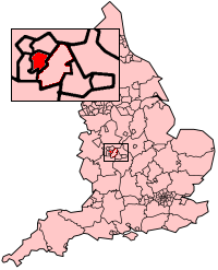 Sandwell shown within England