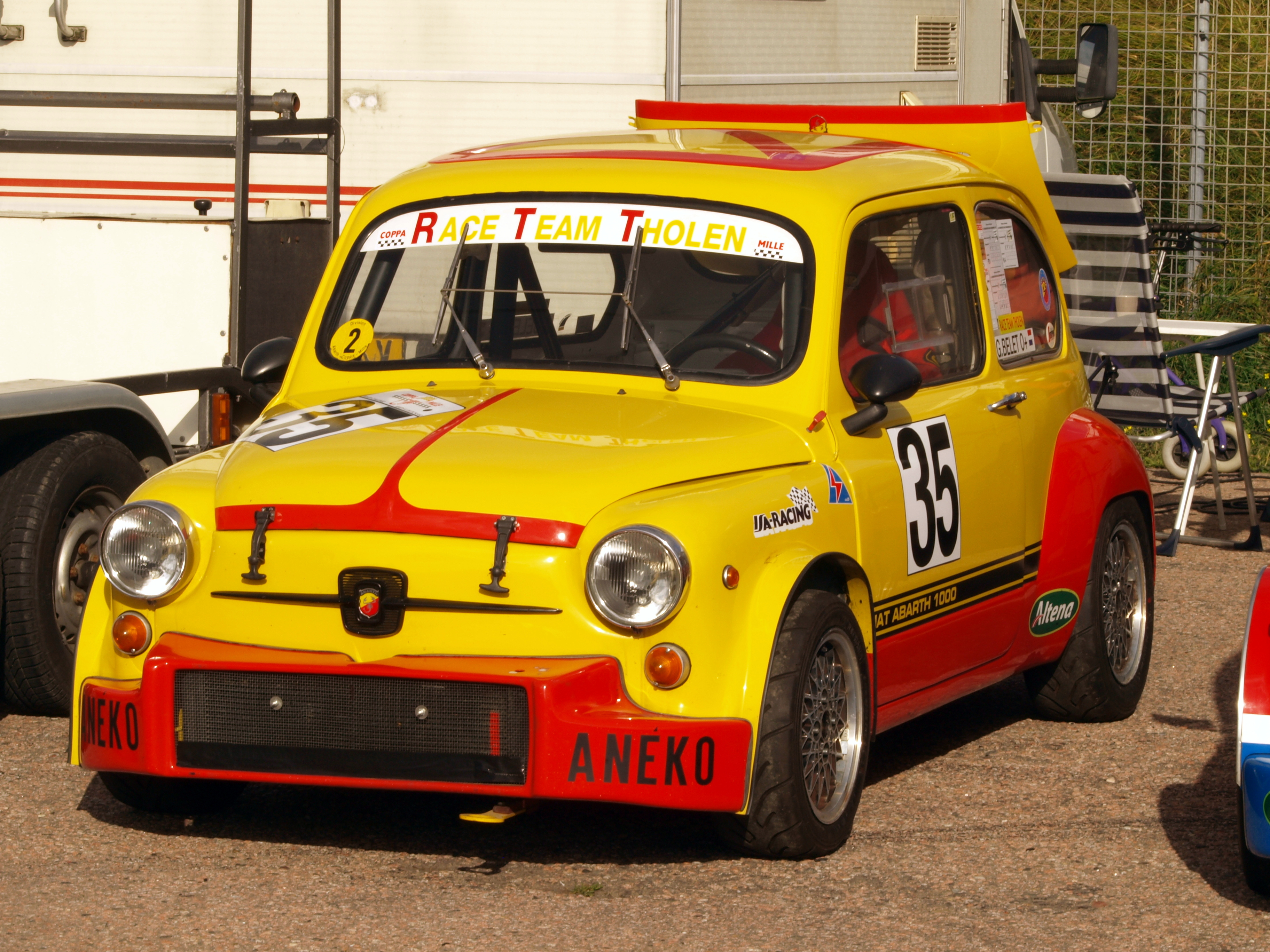 File Fiat Abarth 1000 Yellow Pic3 Jpg Wikimedia Commons