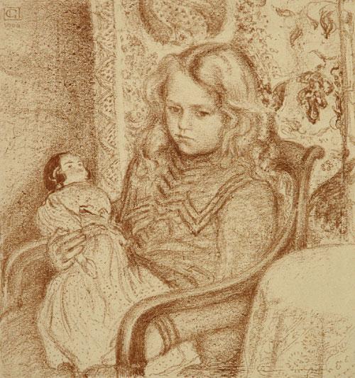 """Джордж Лемен """"Девочка с куклой"""" 1904г."""