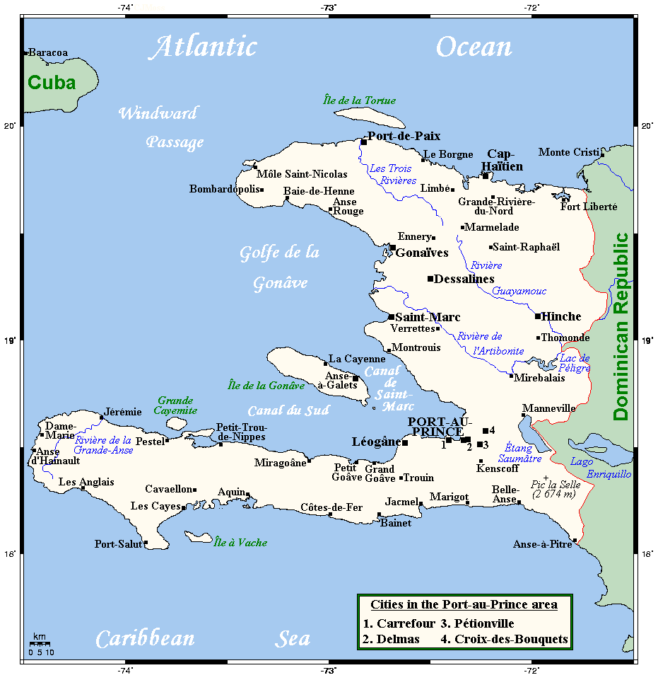 Geography Of Haiti Wikipedia - Haiti major cities map